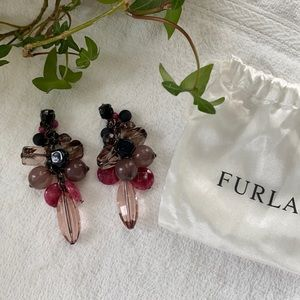 FURLA Gemstone Earrings - matching necklace avail